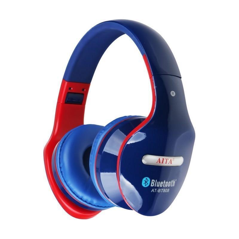 Складные Bluetooth наушники AT-BT808 с микрофоном 203847