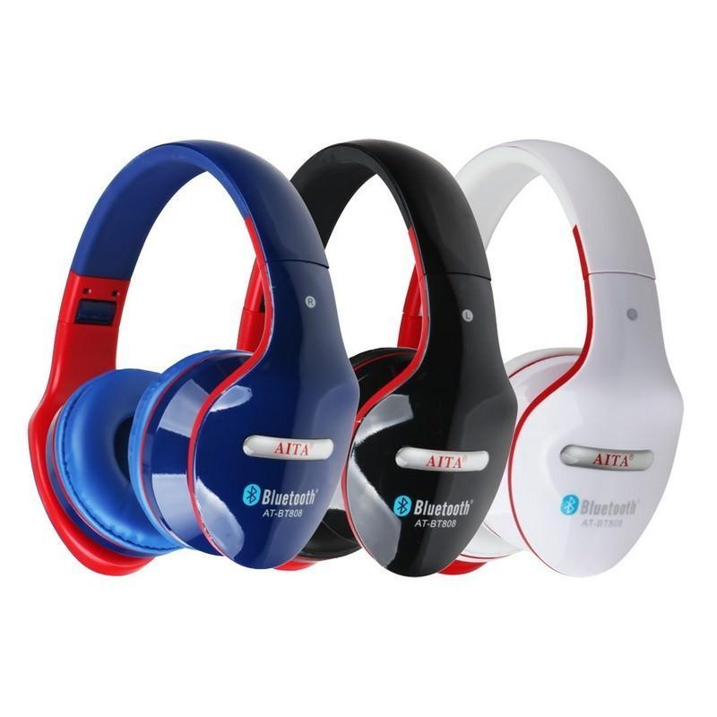 26774 - Складные Bluetooth наушники AT-BT808 с микрофоном