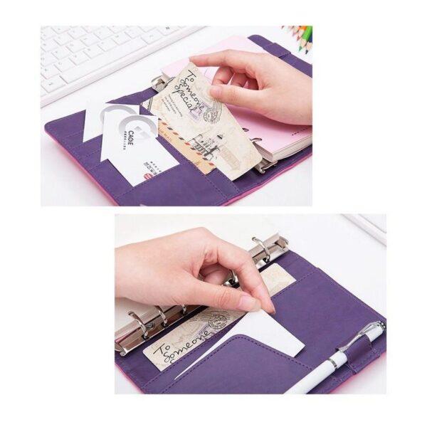 26857 - Блокнот-органайзер CAGIE Note А5 с отрывными листами в твердой обложке из PU кожи