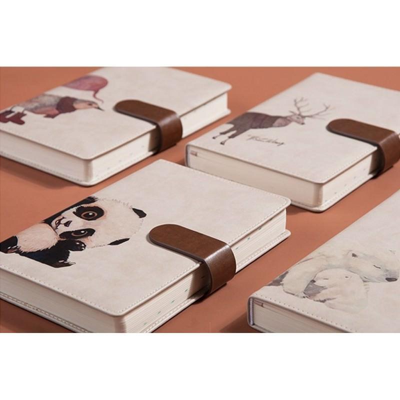 Блокнот-органайзер CAGIE The Animals A5 в твердом переплете из PU-кожи с магнитной застежкой 203935