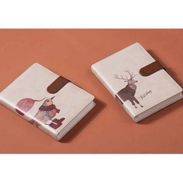 26873 - Блокнот-органайзер CAGIE The Animals A5 в твердом переплете из PU-кожи с магнитной застежкой
