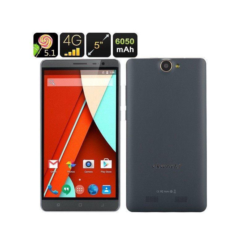 Смартфон VKWorld VK6050 – 3G, 4G, Android 5.1, 4-ядра, экран 5,5″, 6050 мАч, 2 SIM-карты (2 цвета)
