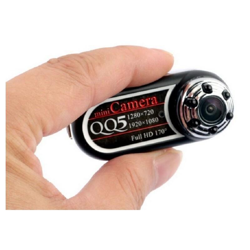 Мини камера QQ5 – 1080p/ 720p, угол обзора 170 градусов, ИК ночное видение, обнаружение движения, microSD 183423