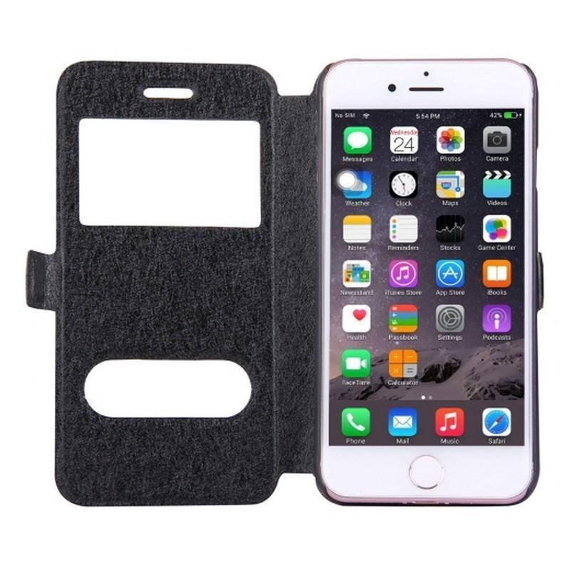 Чехол-книжка для iPhone 7 с Call-ID экраном и подставкой-держателем 204211