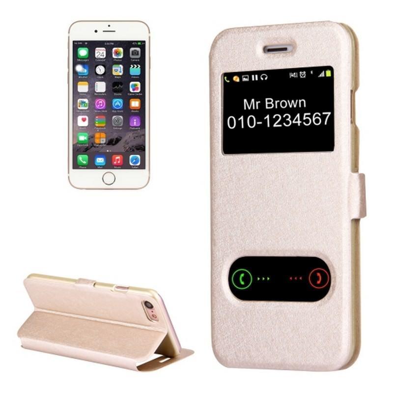 Чехол-книжка для iPhone 7 с Call-ID экраном и подставкой-держателем 204217
