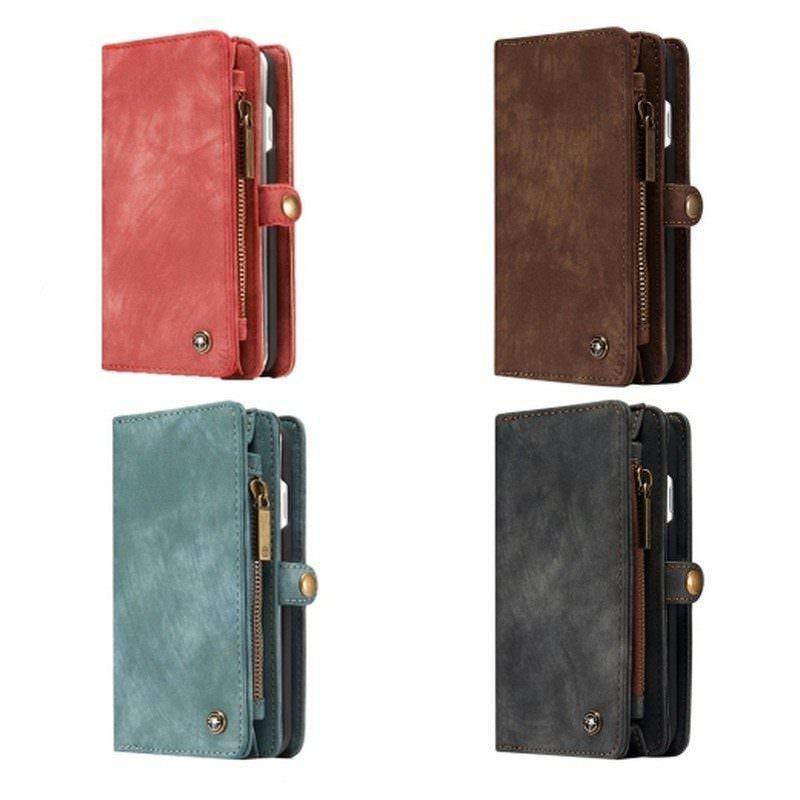 Многофункциональный кожаный чехол-бумажник CaseMe для iPhone 7 с магнитным держателем