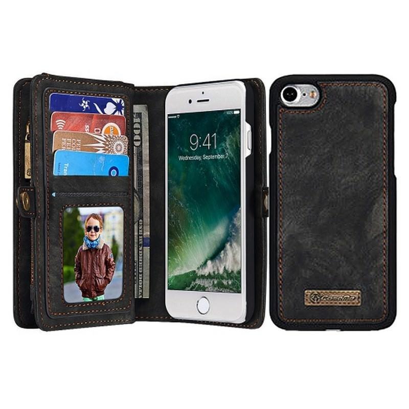 Многофункциональный кожаный чехол-бумажник CaseMe для iPhone 7 с магнитным держателем 204241