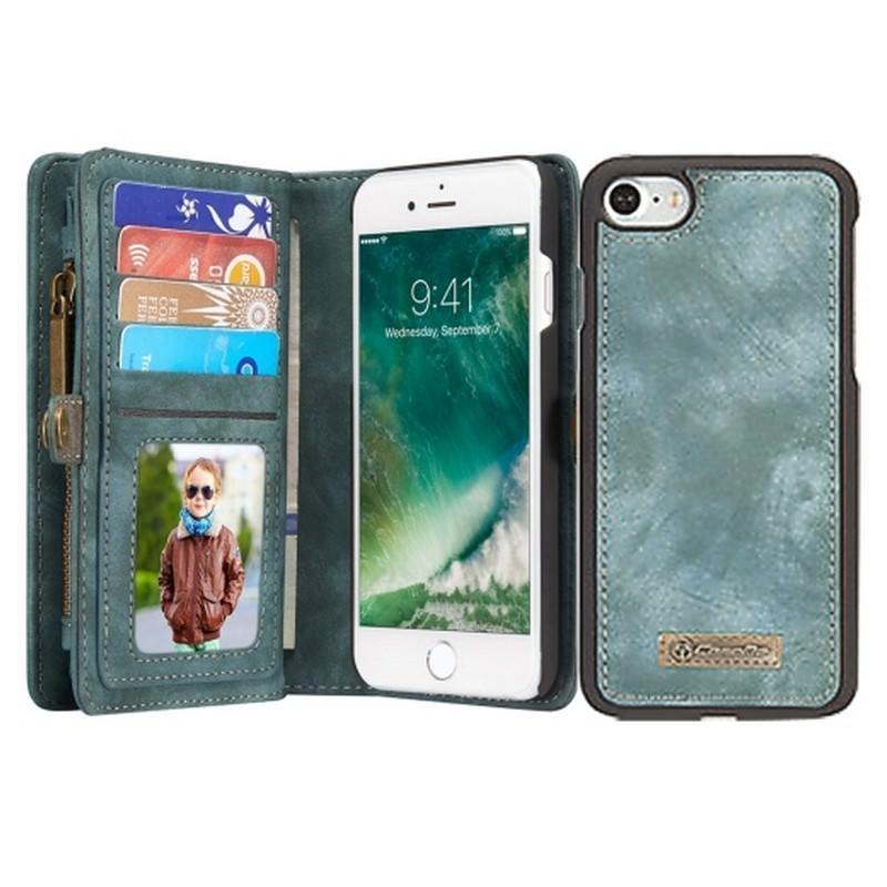 Многофункциональный кожаный чехол-бумажник CaseMe для iPhone 7 с магнитным держателем 204243