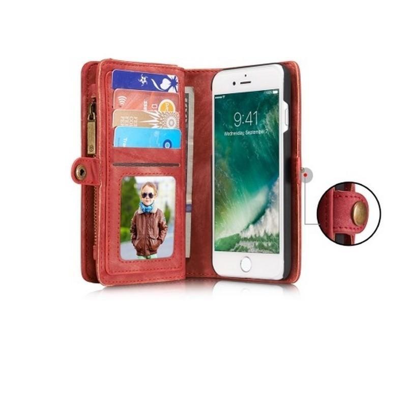 Многофункциональный кожаный чехол-бумажник CaseMe для iPhone 7 с магнитным держателем 204244