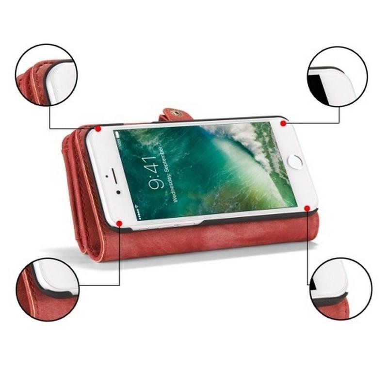 Многофункциональный кожаный чехол-бумажник CaseMe для iPhone 7 с магнитным держателем 204251