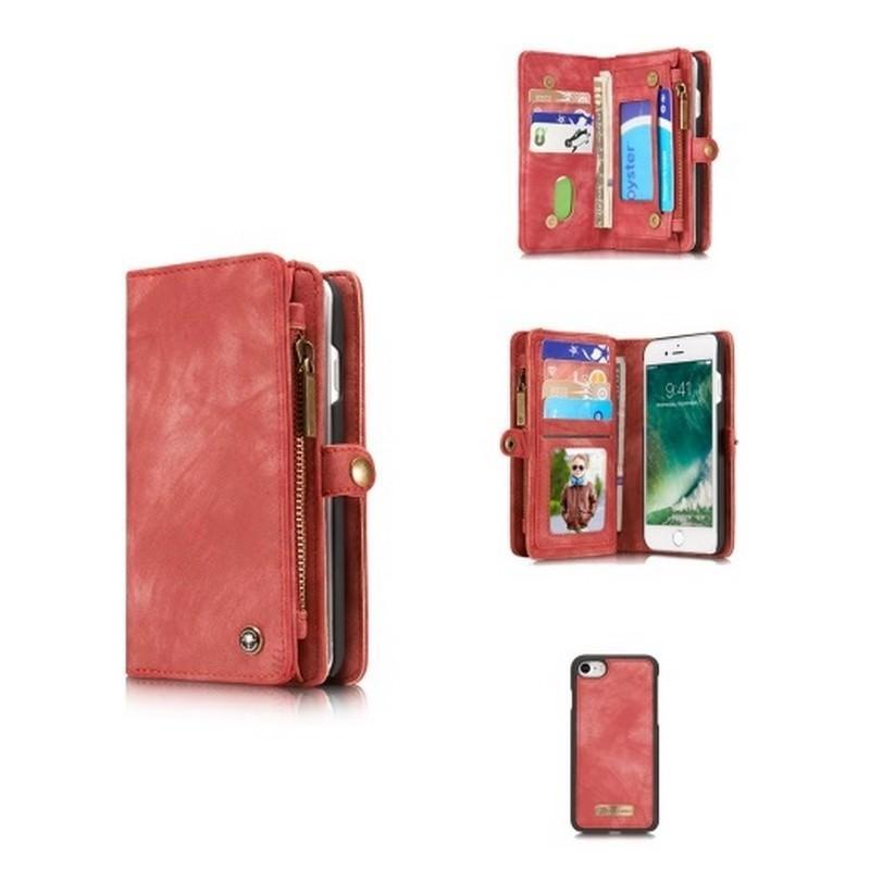 Многофункциональный кожаный чехол-бумажник CaseMe для iPhone 7 с магнитным держателем 204252