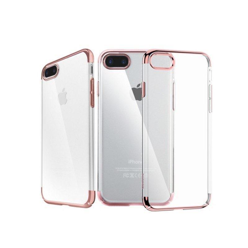 Защитный чехол с металлизированными углами для iPhone 7 Plus