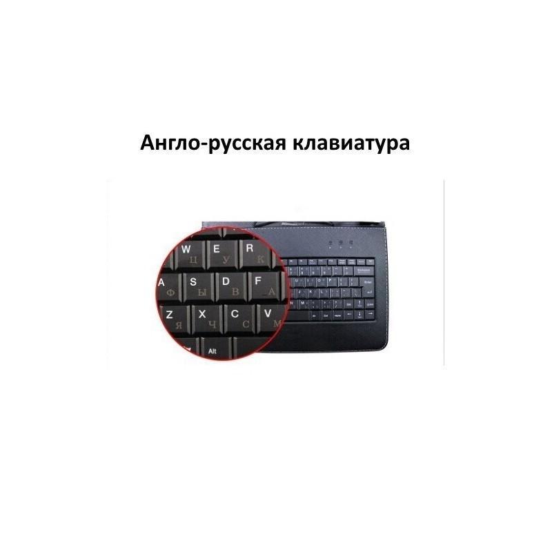 Чехол с англо-русской клавиатурой для планшета Chuwi Vi10 – док-станция с магнитным разъемом (черный) 185693
