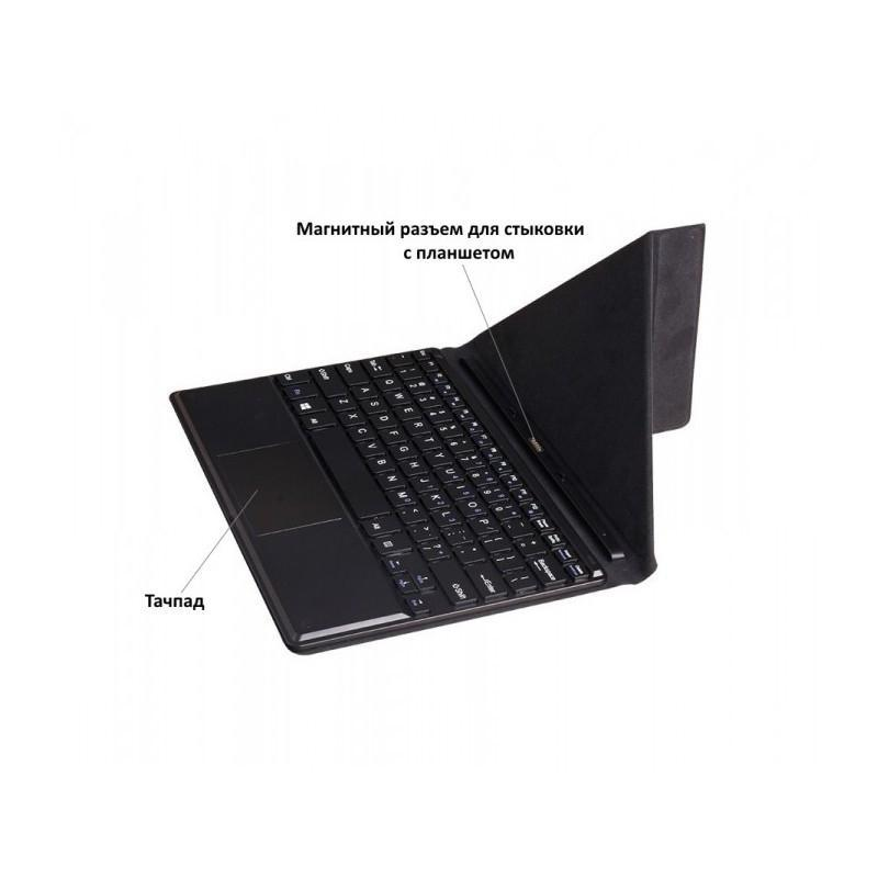 Чехол с англо-русской клавиатурой для планшета Chuwi Vi10 – док-станция с магнитным разъемом (черный) 185694