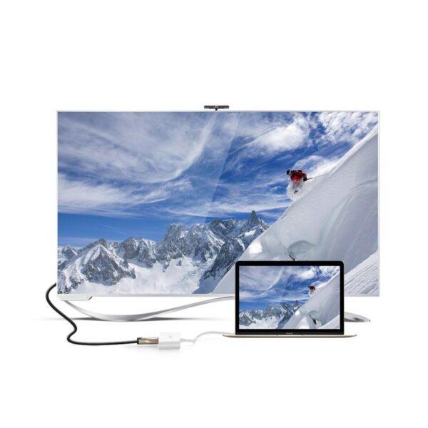 27855 - Переходник UGreen: USB Type-C к USB 3.0 + HDMI/ VGA хаб + адаптер питания для устройств с USB Type-C выходом