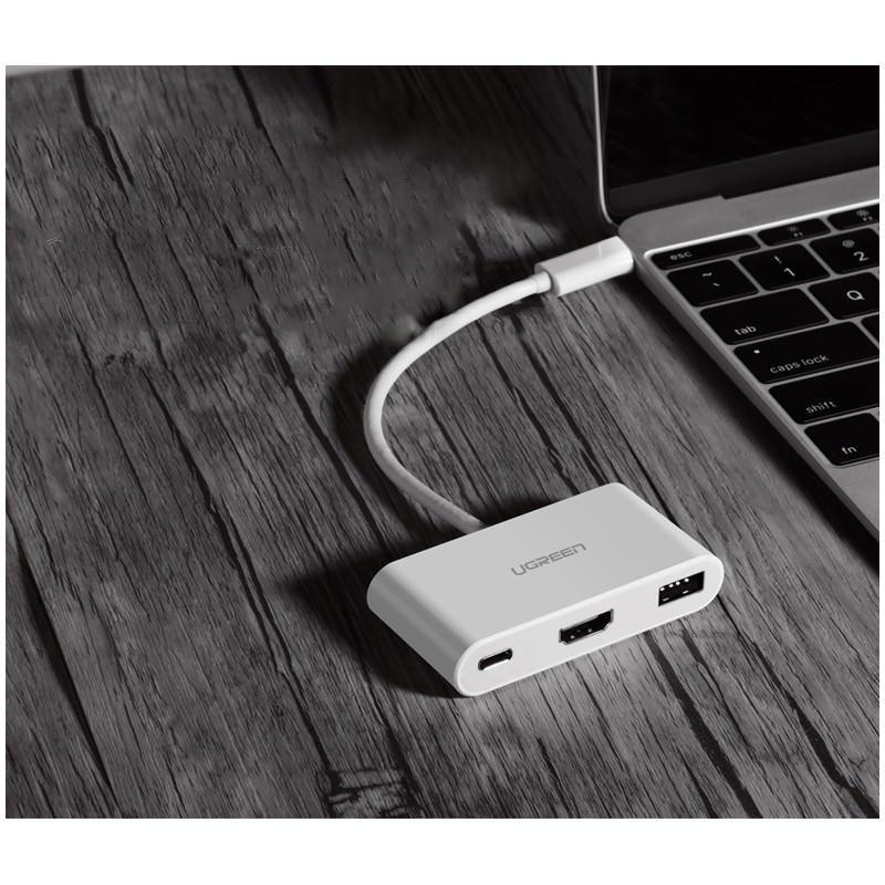 Переходник UGreen: USB Type-C к USB 3.0 + HDMI/ VGA хаб + адаптер питания для устройств с USB Type-C выходом 204817