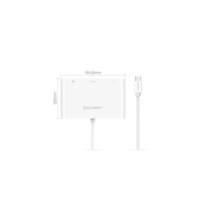 Переходник USB Type-C к HDMI/ VGA + USB-хаб + интернет-разъем RJ45+ адаптер питания для устройств с USB Type-C выходом 204832