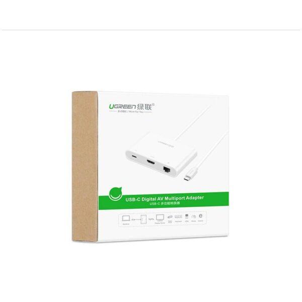 27880 - Переходник USB Type-C к HDMI/ VGA + USB-хаб + интернет-разъем RJ45+ адаптер питания для устройств с USB Type-C выходом