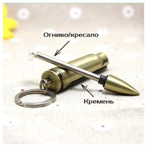 27885 - Многоразовая спичка-зажигалка Гильза в металлическом корпусе