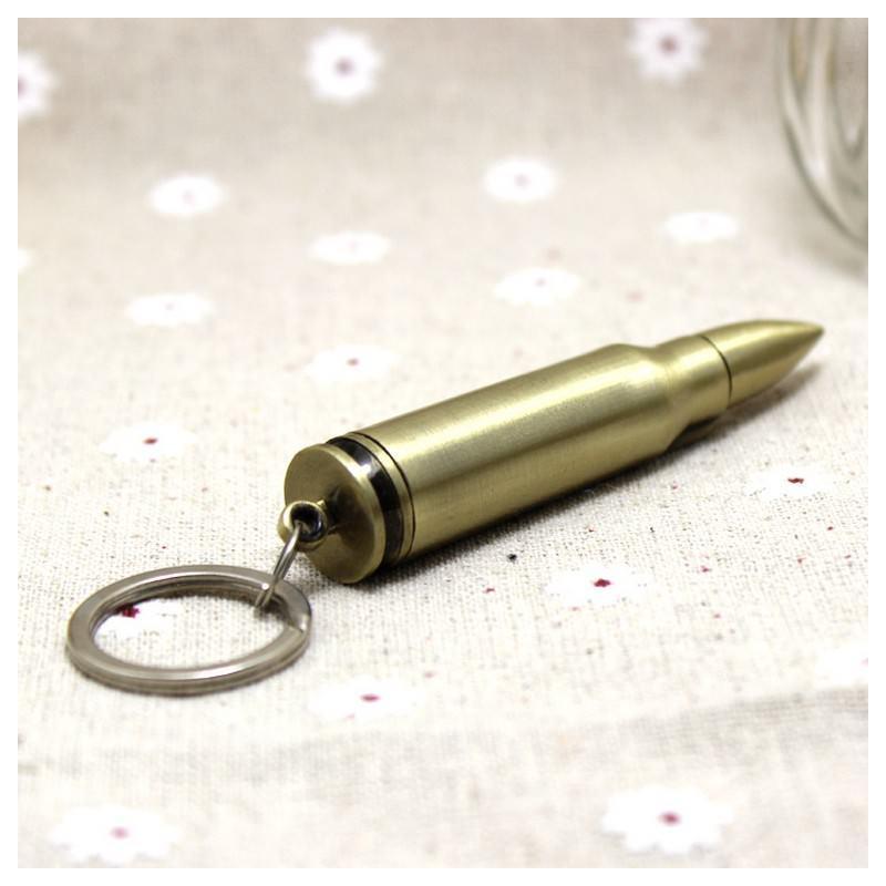 Многоразовая спичка-зажигалка Гильза в металлическом корпусе 204847