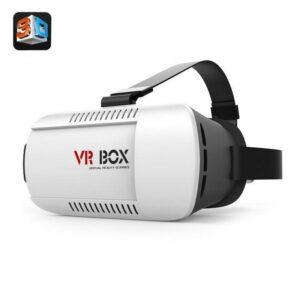 Недорогие видеоочки VR BOX 3D – для смартфона 4.7-6 дюймов, поддержка 3D, настройка фокуса и расстояния между линзами