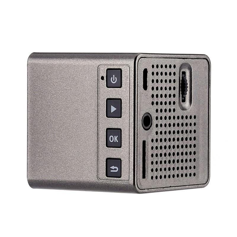 Карманный DLP-проектор Cube G1: 30 лм, проекция 70 дюймов, формат изображения 4:3 и 16:9, 640×360 разрешение, 950 мАч батарея 204944
