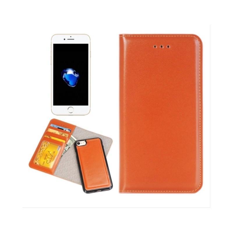 Кожаный чехол-кошелек для iPhone 7 Plus со съемной крышкой из термопластичного полиуретана 204972