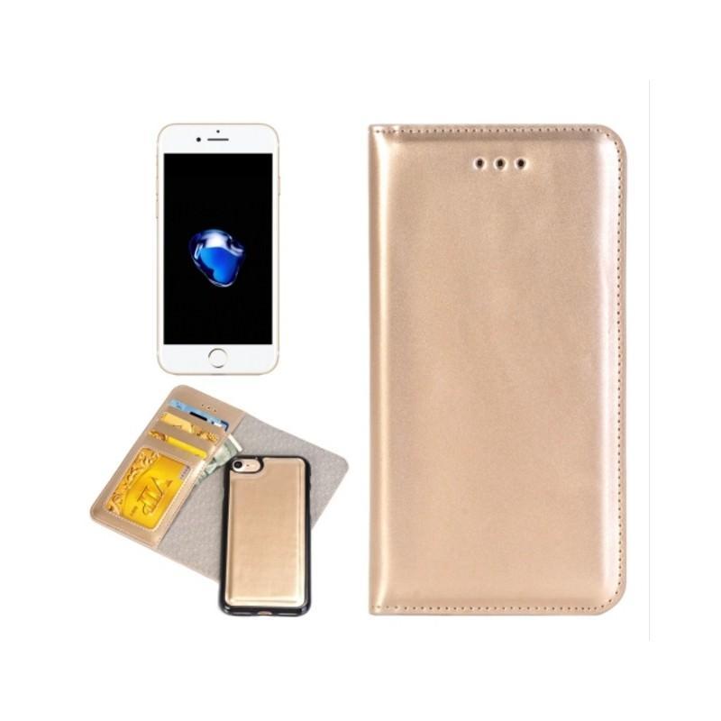 Кожаный чехол-кошелек для iPhone 7 Plus со съемной крышкой из термопластичного полиуретана 204973