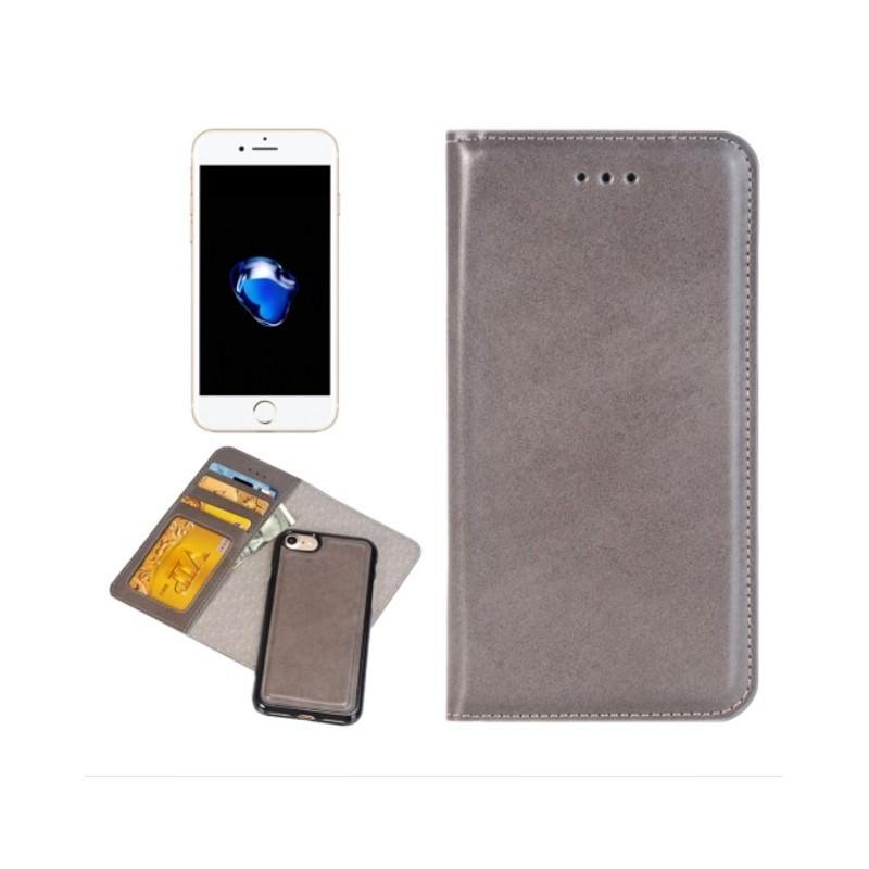 Кожаный чехол-кошелек для iPhone 7 Plus со съемной крышкой из термопластичного полиуретана 204974