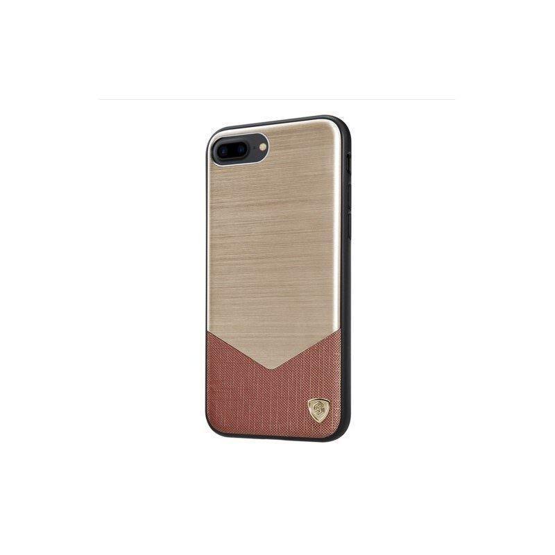 Стильный чехол NILLKIN LENSEN для iPhone 7 Plus: металл + кожа