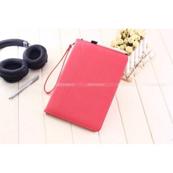 28171 - Чехол-книжка Jeefanco для iPad AIR 2 - натуральная кожа, карманы для карт, ручка, держатель