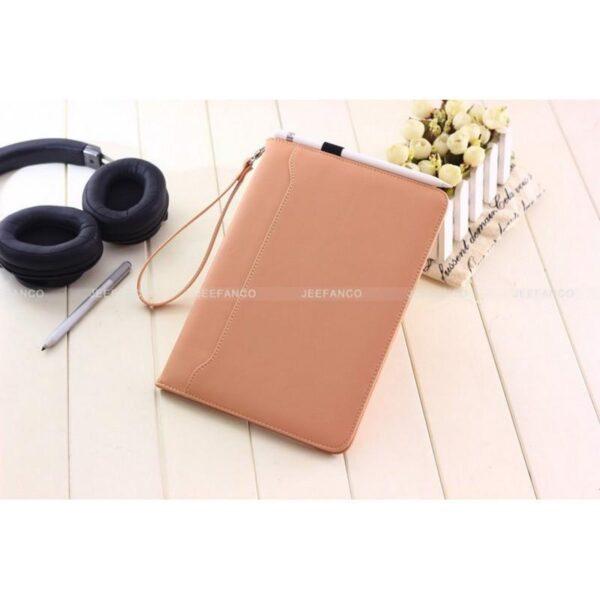 28175 - Чехол-книжка Jeefanco для iPad AIR 2 - натуральная кожа, карманы для карт, ручка, держатель
