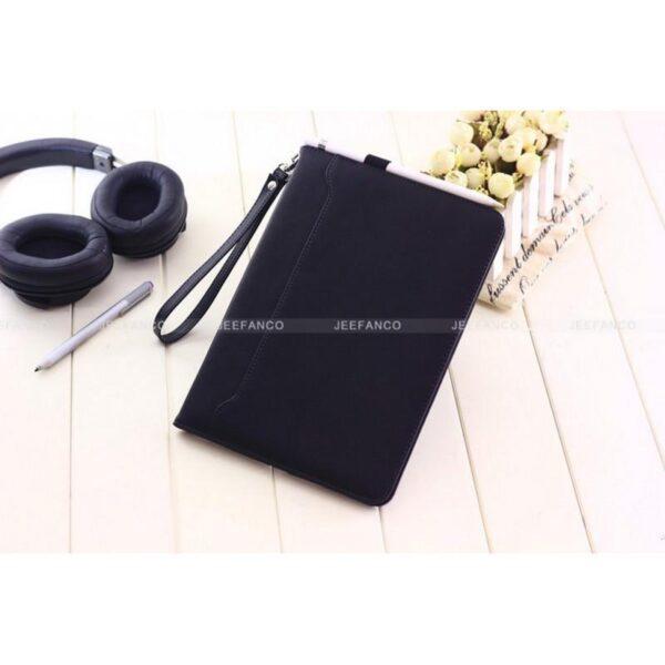 28182 - Чехол-книжка Jeefanco для iPad AIR 2 - натуральная кожа, карманы для карт, ручка, держатель