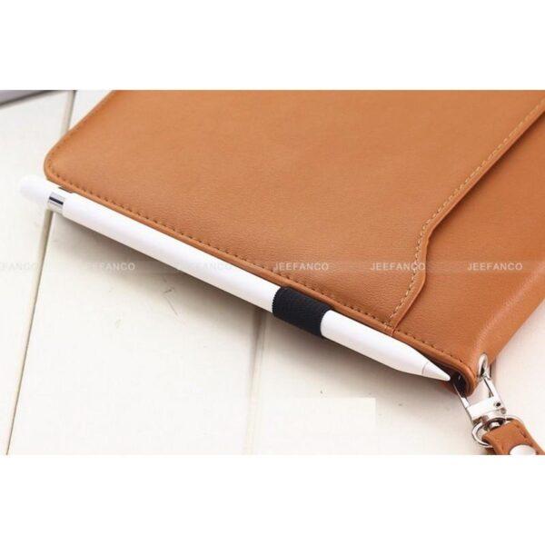 28183 - Чехол-книжка Jeefanco для iPad AIR 2 - натуральная кожа, карманы для карт, ручка, держатель