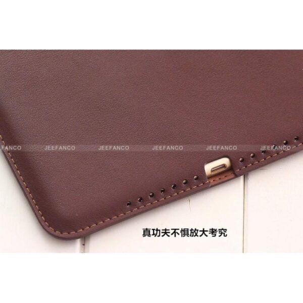 28190 - Чехол-книжка Jeefanco для iPad AIR 2 - натуральная кожа, карманы для карт, ручка, держатель