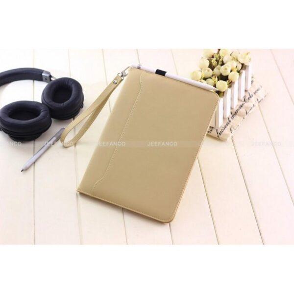 28191 - Чехол-книжка Jeefanco для iPad AIR 2 - натуральная кожа, карманы для карт, ручка, держатель