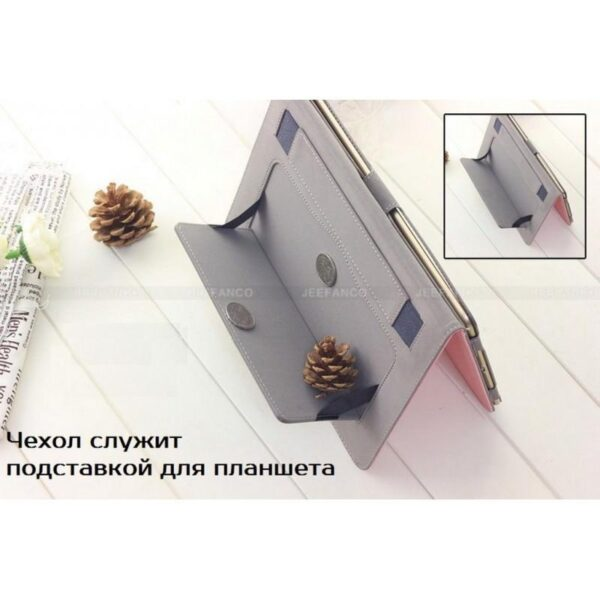 28203 - Чехол Jeefanco из натуральной кожи для iPad AIR