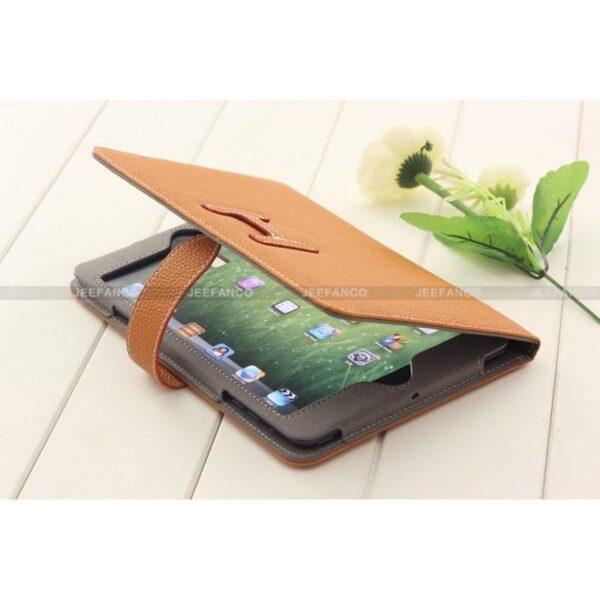 28257 - Кожаный чехол Jeefanco для iPad mini / mini 2 / mini 3
