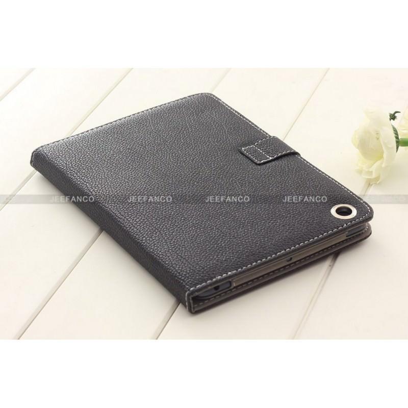 Кожаный чехол Jeefanco для iPad mini / mini 2 / mini 3 - Черный