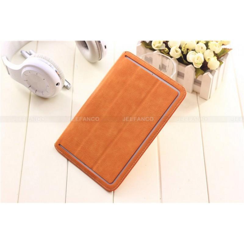 Кожаный чехол Batt от Jeefanco для iPad mini / mini 2 / mini 3 - Оранжевый