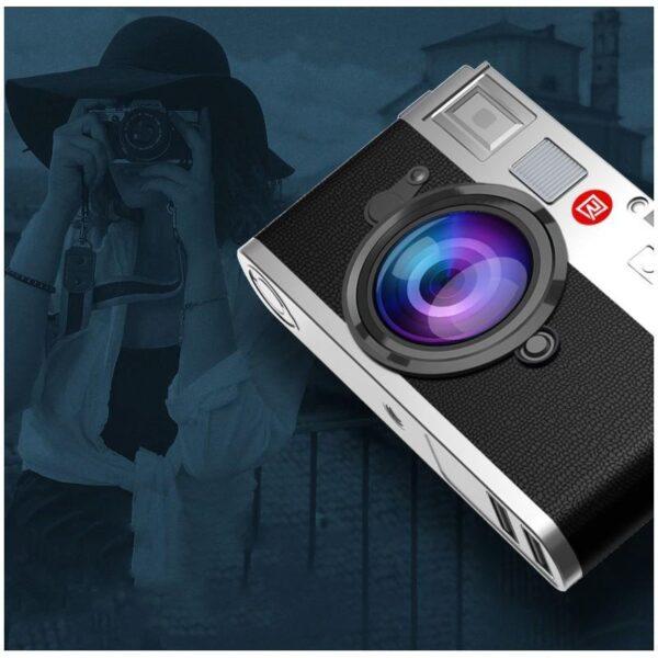 28282 - Power Bank Remax - Ретро-фотоаппарат: 10000 мАч, 2 USB-порта