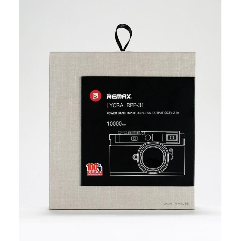 Power Bank Remax – Ретро-фотоаппарат: 10000 мАч, 2 USB-порта 205197