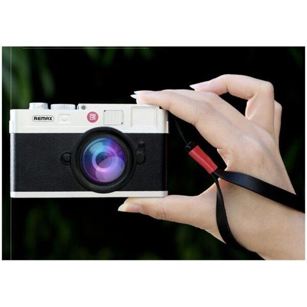 28289 - Power Bank Remax - Ретро-фотоаппарат: 10000 мАч, 2 USB-порта