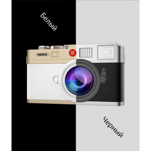 28291 - Power Bank Remax - Ретро-фотоаппарат: 10000 мАч, 2 USB-порта