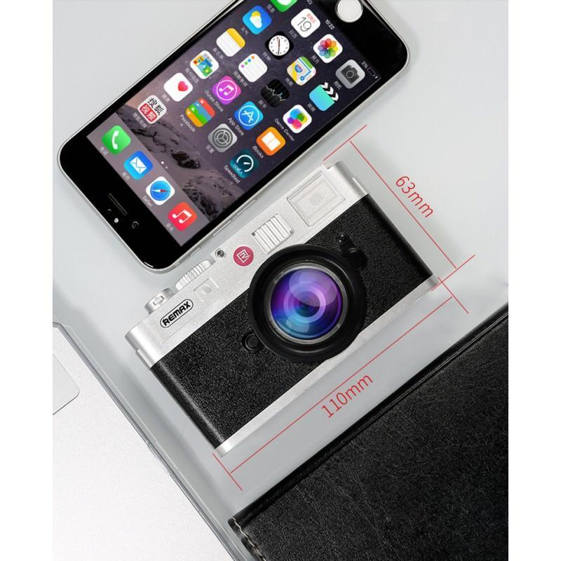 Power Bank Remax – Ретро-фотоаппарат: 10000 мАч, 2 USB-порта 205204