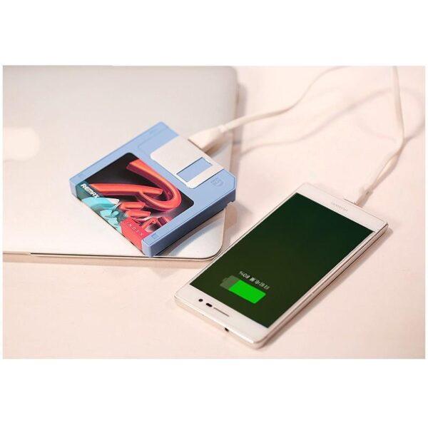 28315 - Power Bank Remax в стиле ретро - Дискета: 5000 мАч, USB-порт