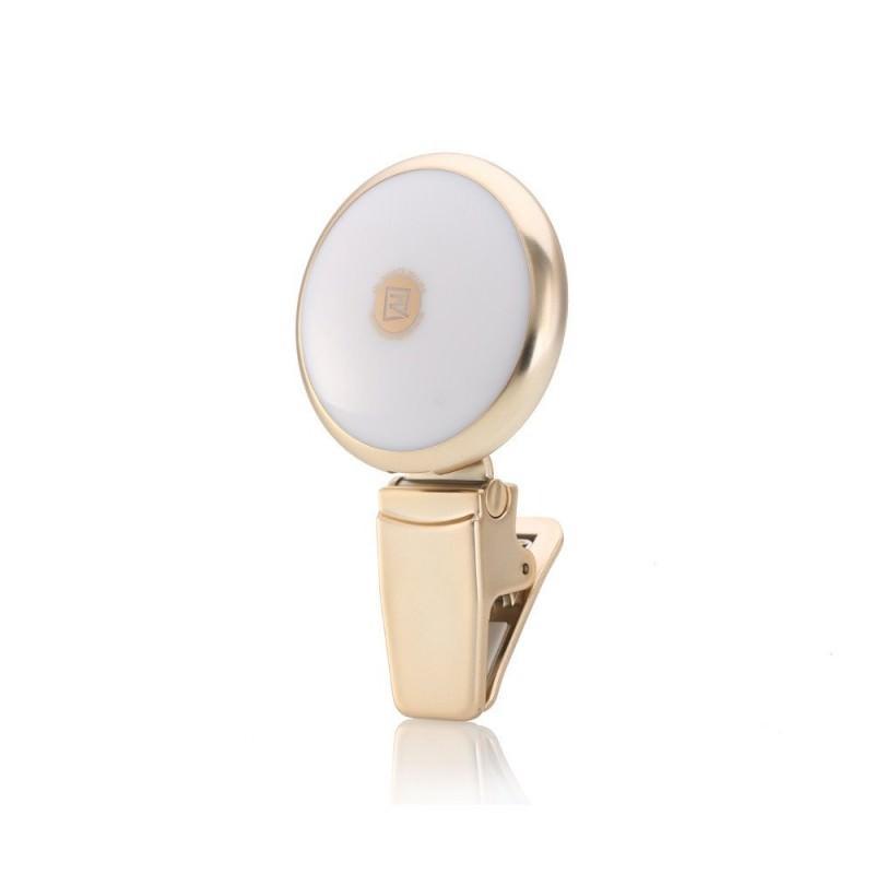 Внешняя подсветка/ мини-прожектор для смартфона Remax Selfie Spot Light: 8 светодиодов, 9 режимов работы 205299