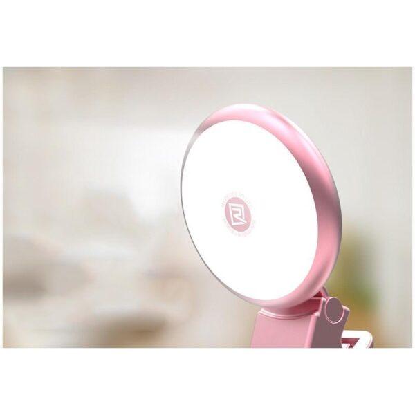 28400 - Внешняя подсветка/ мини-прожектор для смартфона Remax Selfie Spot Light: 8 светодиодов, 9 режимов работы