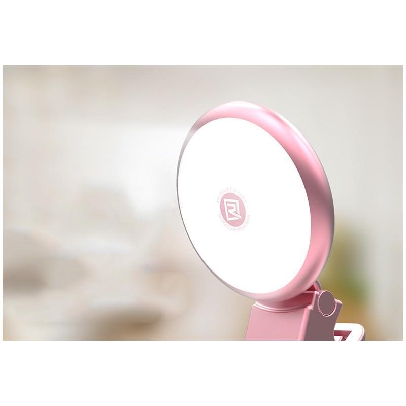 Внешняя подсветка/ мини-прожектор для смартфона Remax Selfie Spot Light: 8 светодиодов, 9 режимов работы 205304