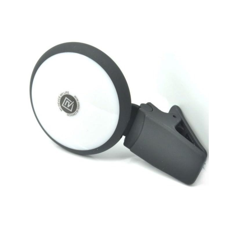 Внешняя подсветка/ мини-прожектор для смартфона Remax Selfie Spot Light: 8 светодиодов, 9 режимов работы 205310
